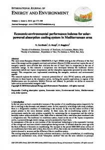 Economic-environmental performance indexes for solar-powered ...