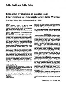 Economic Evaluation of Weight Loss ... - Wiley Online Library