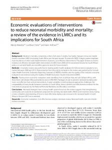 Economic evaluations of interventions to reduce