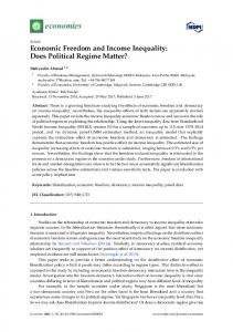 Economic Freedom and Income Inequality: Does Political ... - MDPI
