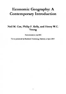 Economic Geography: A Contemporary Introduction - CiteSeerX