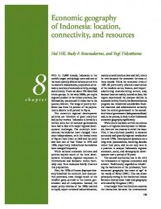 Economic geography of Indonesia: location, connectivity, and resources