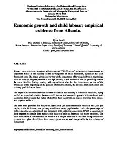 Economic growth and child labour: empirical evidence from Albania.