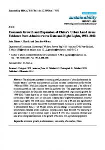 Economic Growth and Expansion of China's Urban Land Area