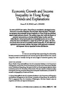 Economic Growth and Income Inequality in Hong Kong - World Scientific