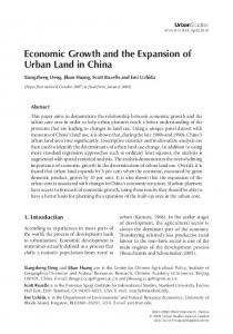 Economic Growth and the Expansion of Urban Land in China