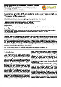 Economic growth, CO2 emissions and energy