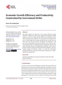 Economic Growth Efficiency and Productivity Constrained by