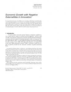 Economic Growth with Negative Externalities in Innovation*