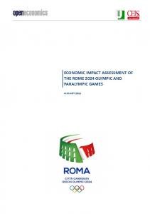 economic impact assessment of the rome 2024 ... - CEIS Tor Vergata