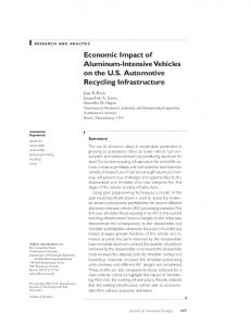 Economic Impact of AluminumIntensive ... - Wiley Online Library