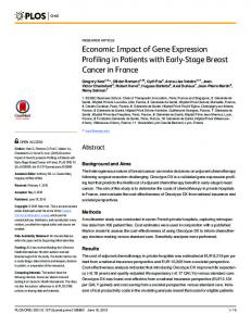 Economic Impact of Gene Expression Profiling in Patients with ... - PLOS