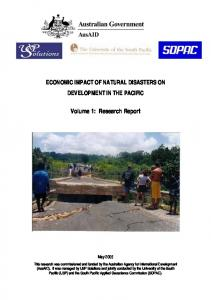 ECONOMIC IMPACT OF NATURAL DISASTERS ON ...