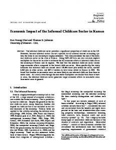 Economic Impact of the Informal Childcare Sector in ... - AgEcon Search