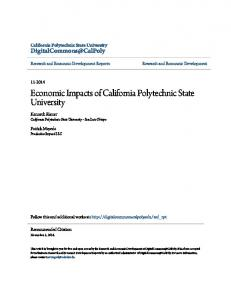 Economic Impacts of California Polytechnic State ...