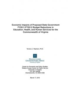 Economic Impacts of Proposed State Government FY2011-FY2012 ...