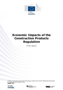 Economic Impacts of the Construction Products