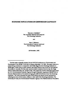 economic implications of greenhouse gas policy - Semantic Scholar