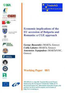Economic implications of the EU accession of Bulgaria and Romania ...