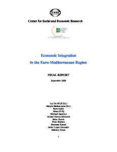 Economic Integration in the Euro-Mediterranean Region - European ...