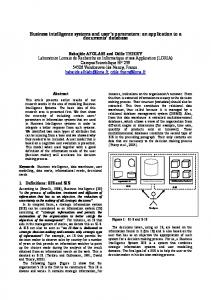 Economic intelligence systems and user's parameters - arXiv