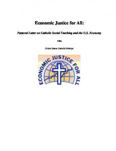 Economic Justice for All: Pastoral Letter on Catholic Social Teaching ...