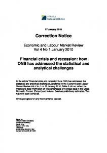 Economic & Labour Market Review January 2010
