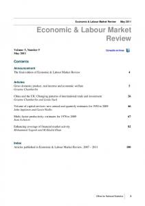 Economic & Labour Markt Review