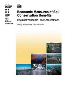 Economic Measures of Soil Conservation Benefits - AgEcon Search