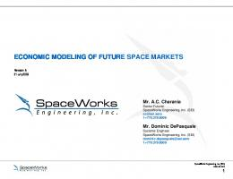ECONOMIC MODELING OF FUTURE SPACE MARKETS