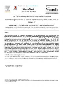 Economic optimization of a combined heat and power