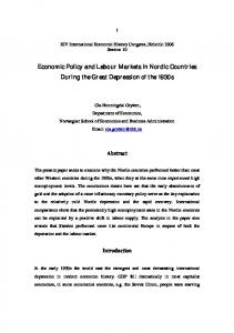 Economic Policy and Labour Markets in Nordic Countries During the ...