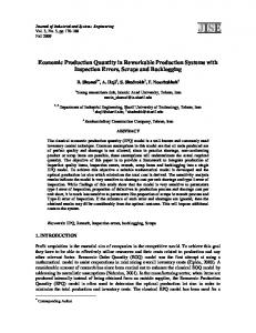 Economic Production Quantity in Reworkable Production Systems with