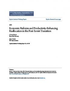 Economic Reforms and Productivity-Enhancing ... - Upjohn Research