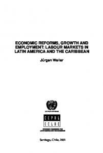 Economic reforms, growth and employment. Labour ... - CiteSeerX