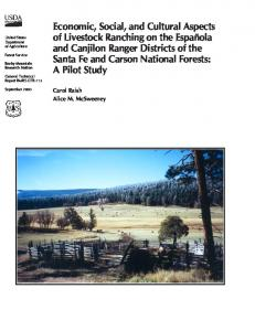 Economic, social, and cultural aspects of livestock ranching on the ...
