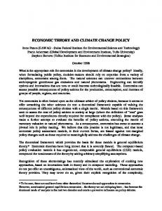 ECONOMIC THEORY AND CLIMATE CHANGE POLICY