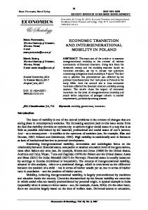 economic transition and intergenerational mobility in poland