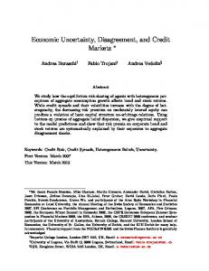 Economic Uncertainty, Disagreement, and Credit ... - SSRN papers