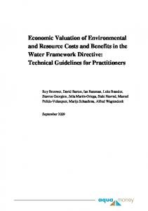 Economic Valuation of Environmental and Resource Costs and ...
