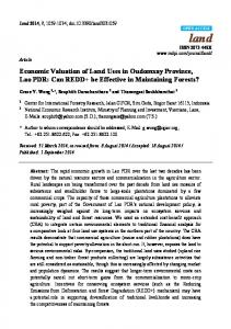 Economic Valuation of Land Uses in Oudomxay Province, Lao ... - MDPI