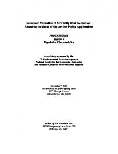 Economic Valuation of Mortality Risk Reduction - Environmental ...