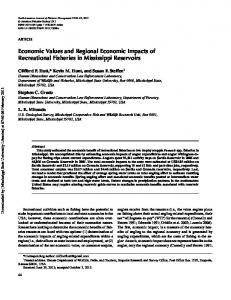 Economic Values and Regional Economic Impacts ...