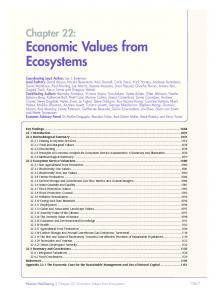 Economic Values from Ecosystems - UK National Ecosystem ...