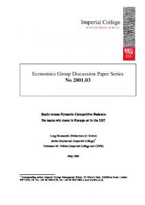 Economics Group Discussion Paper Series No ... - Penn State Law