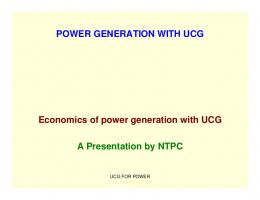 Economics of Power Generation with UCG - Office of Fossil Energy