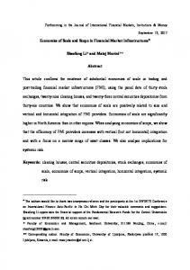 Economies of Scale and Scope in Financial Market ... - SSRN papers