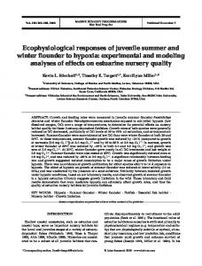 Ecophysiological responses of juvenile summer and winter flounder to ...
