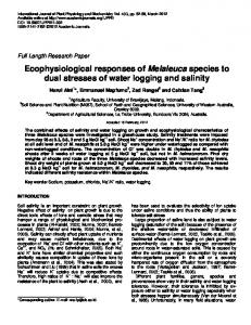 Ecophysiological responses of Melaleuca ... - Academic Journals