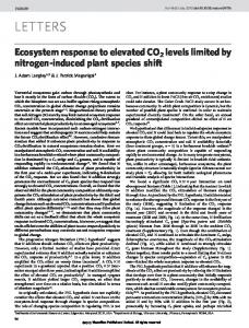 Ecosystem response to elevated CO2 levels limited by nitrogen ...